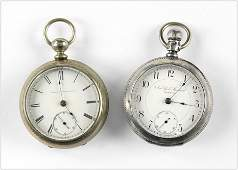 Elgin and New York Standard Men's Pocket Watches.
