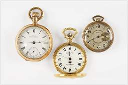 Waltham, Elgin and North Star Men's Pocket Watches.
