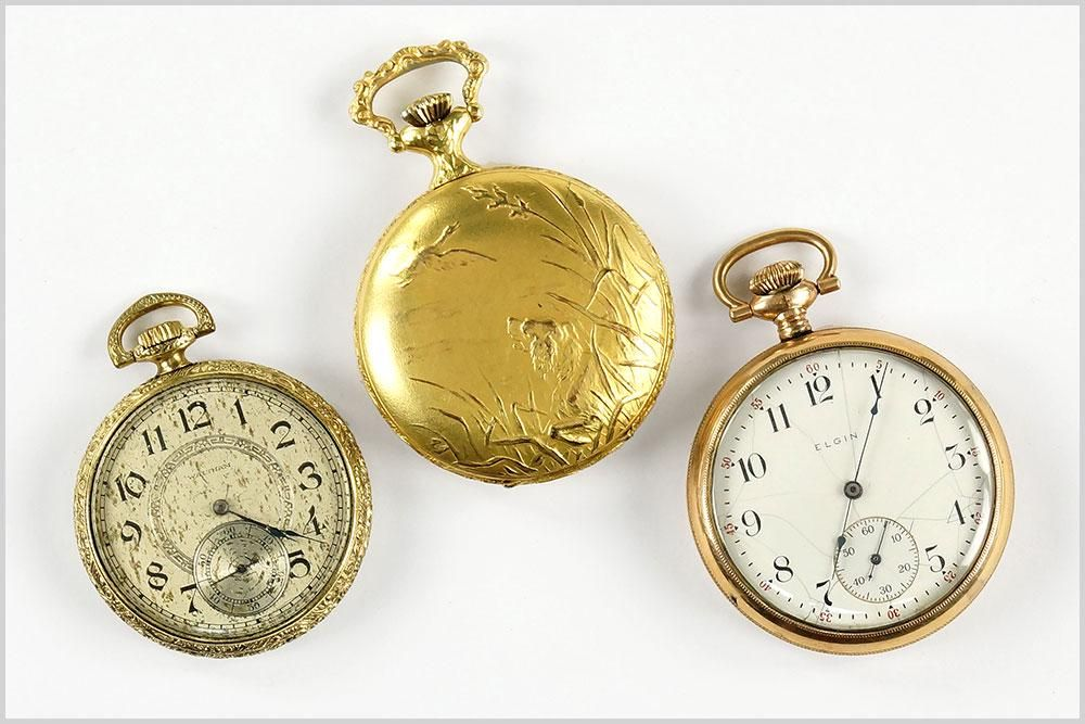 Stellaris, Waltham and Elgin Men's Pocket Watches.