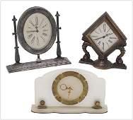Waltham Gorman and Marble Art Deco Mantle Clocks