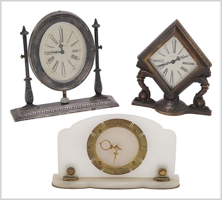 Waltham, Gorman and Marble Art Deco Mantle Clocks.