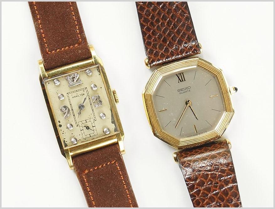 Hamilton and Seiko Men's Wrist Watches.
