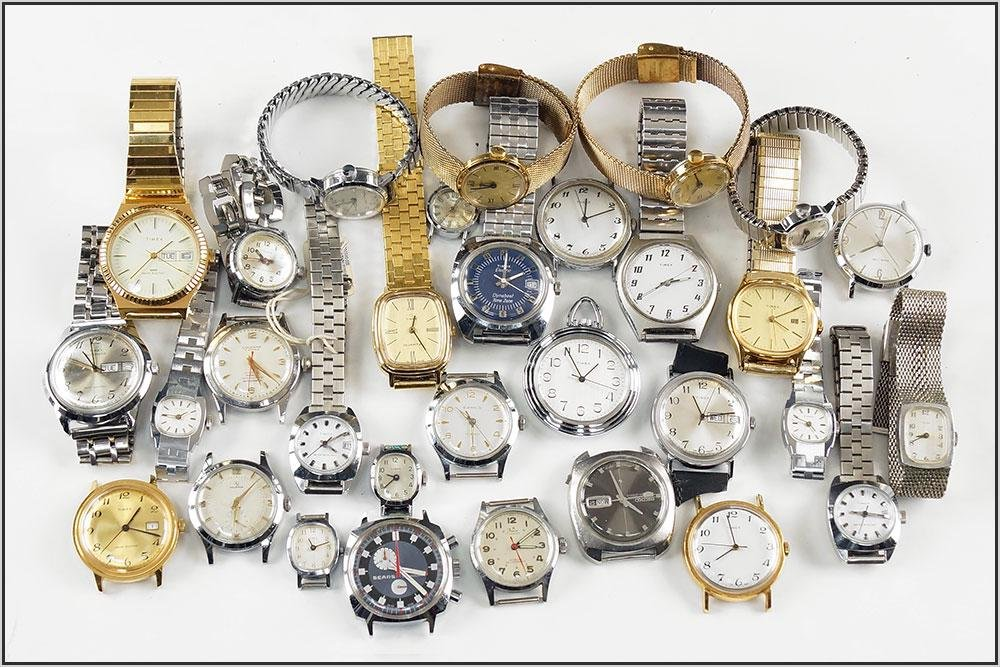 Group of Timex Watches.