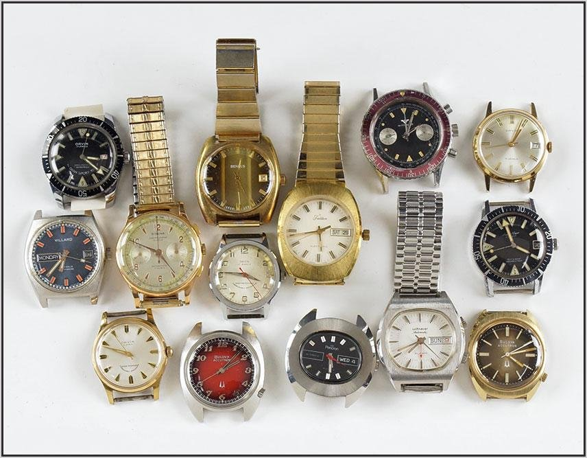 Group of Men's Wrist Watches.
