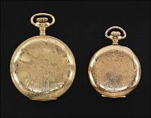 Two Elgin Gold filled Pocket Watches.