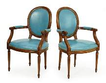 A Pair of Hickory Chair Company Open Armchairs