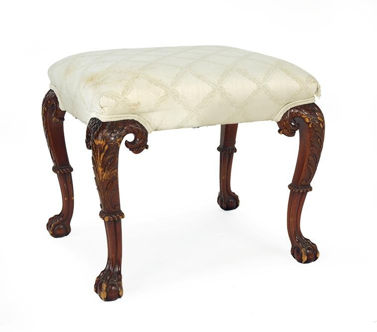 A Chippendale Style Mahogany Foot Stool.