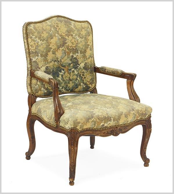 A Louis XIV Style Open Armchair.