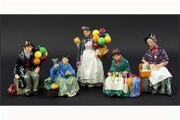 A Collection of Five Royal Doulton Figures.