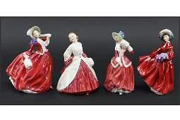 Four Royal Doulton Figures.