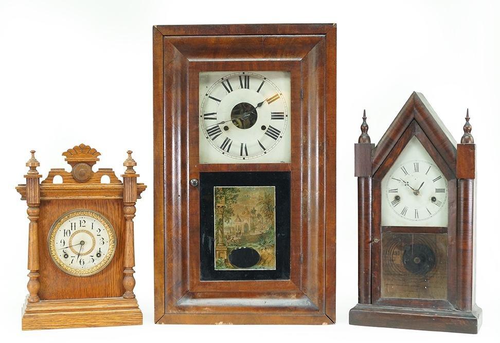 Two Ansonia Mantle Clocks.