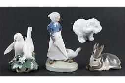 Four Royal Copenhagen Porcelain Figures