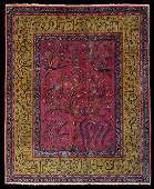 A Kashan Tree of Life Rug.