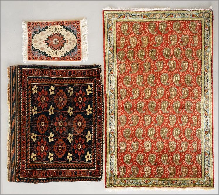 Two Wool Blend Rugs.