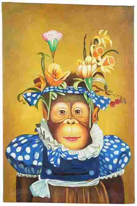 Artist Unknown (American, Contemporary) A Chimp with