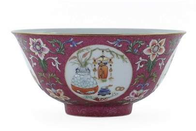 A Pair of Chinese Famille Rose Porcelain Bowls.