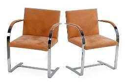 A Set of Eight Knoll BRNO Flat Bar Chairs.