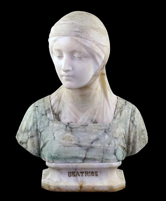 A 19th Century Continental Carved Marble Bust of