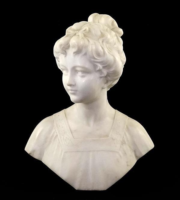 An Italian Carved Marble Bust.