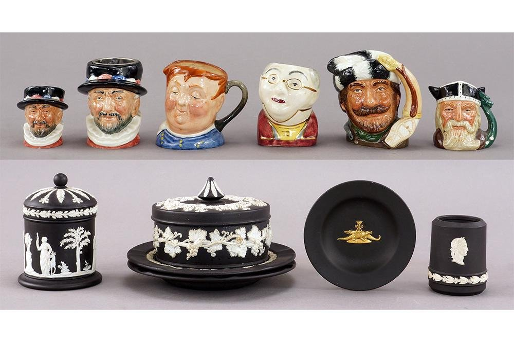 A Collection of Wedgwood Black Jasperware.