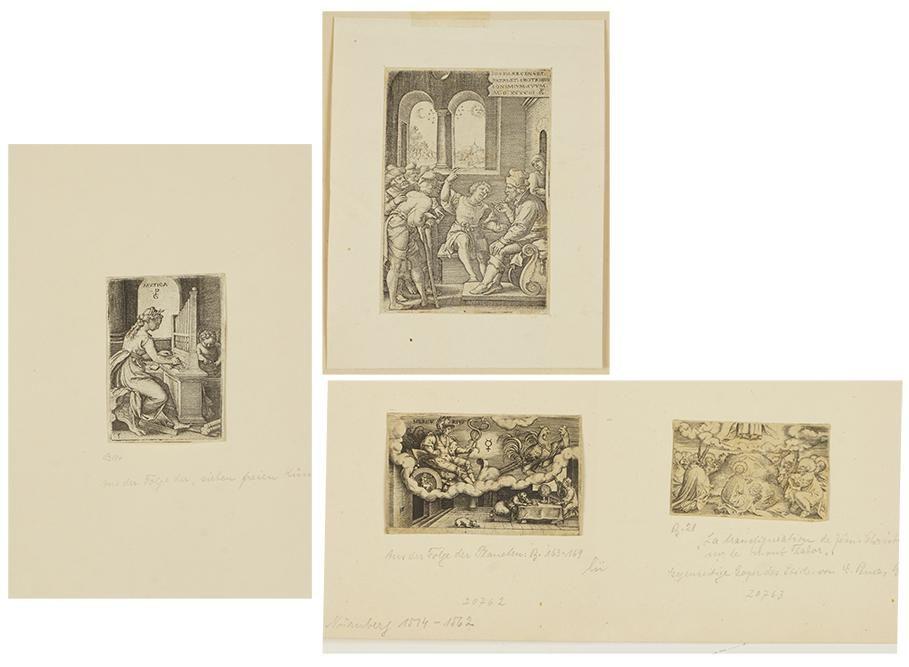 George Pencz (German, c. 1500-1550) Two Engravings.