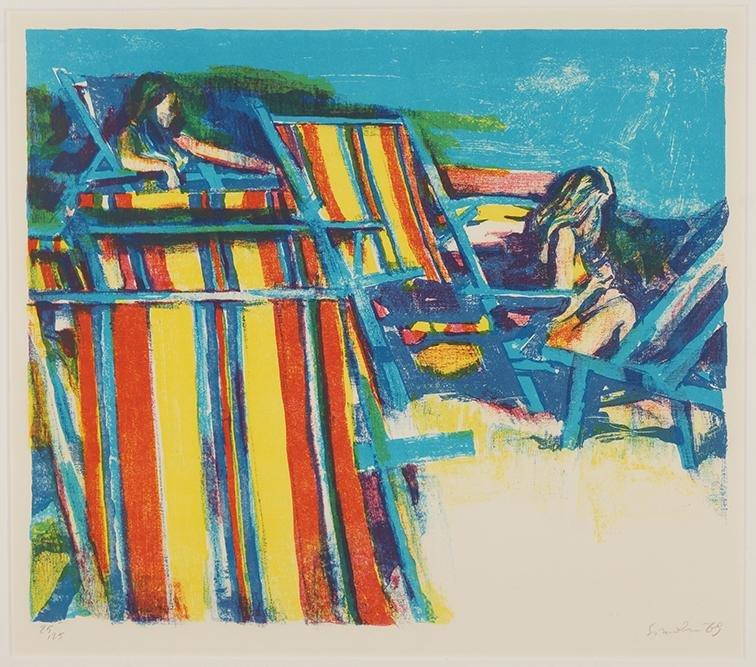 Nicola Simbari (Italian, 1927-2012) Beach Chairs.
