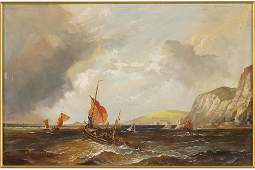 Robert DumontSmith British 19081994 Off the Dover