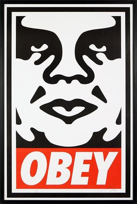 Shepard Fairey (American, B. 1970) Obey.