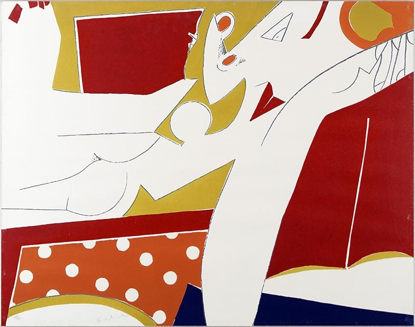 Knox Martin (American, B. 1923) Abstract.