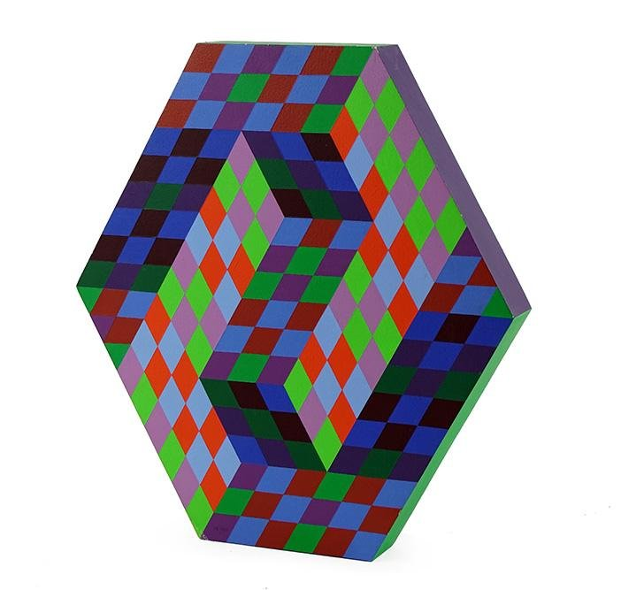 Victor Vasarely (Hungarian/French, 1906-1997) Gestalt,