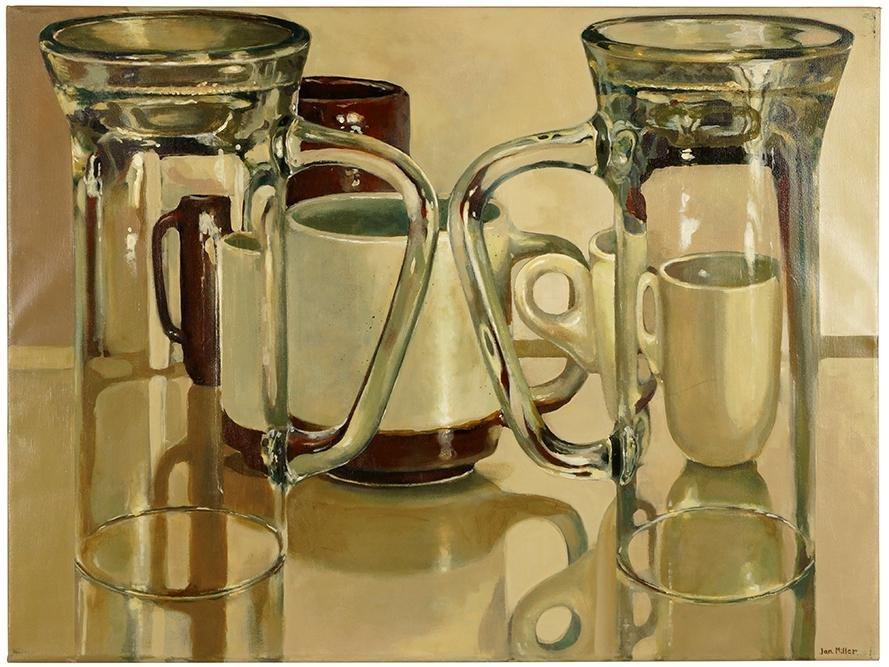 Jan Miller (American, B. 1939) Mugs and Cups.