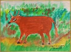 William M. Dawson (American, 1901-1990) Brown Cow.