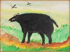 William M. Dawson (American, 1901-1990) Black Bear.