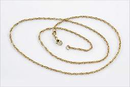 A James Avery 14 Karat Yellow Gold Rope Necklace