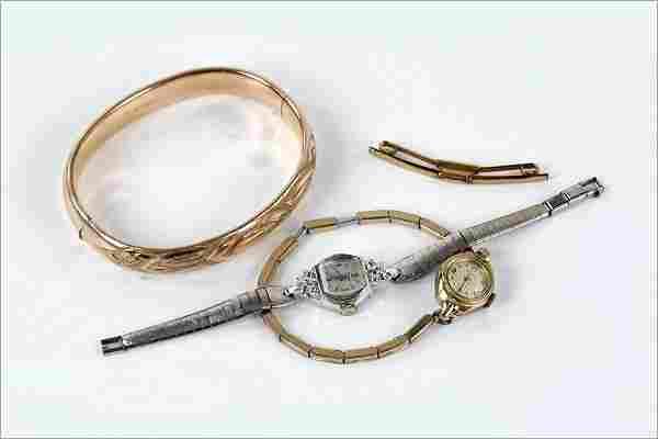 A Victorian Goldfilled Bangle Bracelet.