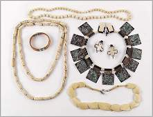 A Collection of Bone Jewelry.