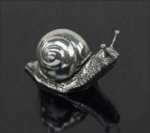 A Buccellati Sterling Silver Snail.