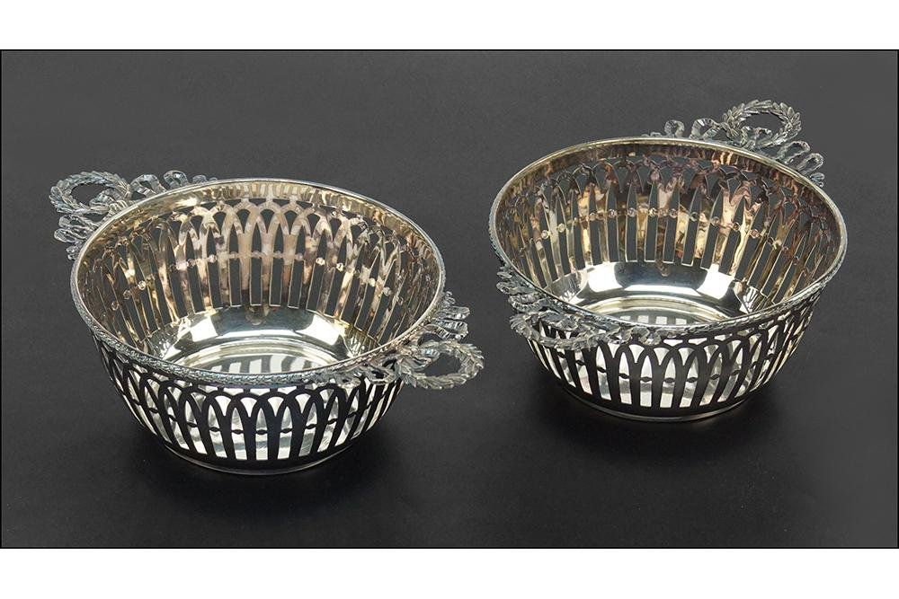 A Pair of Sterling Silver Baskets.