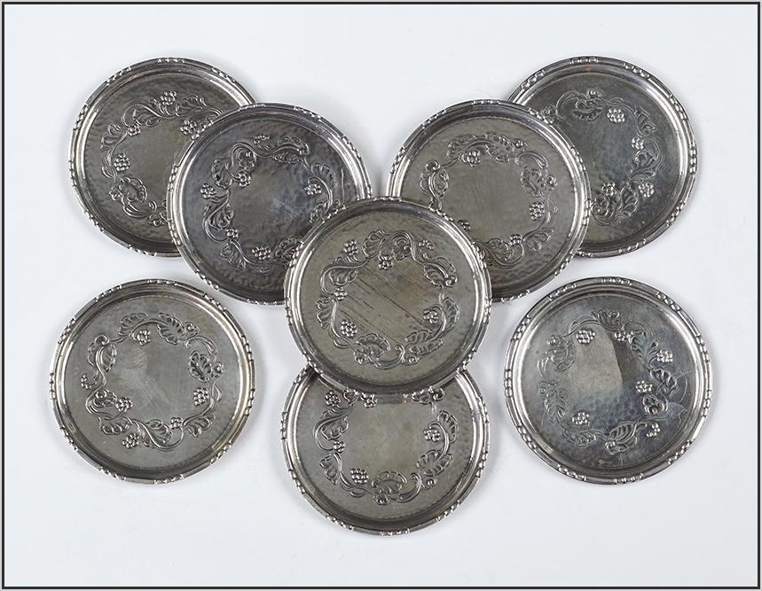 A Set of Eight Georg Jensen Sterling Silver Butter