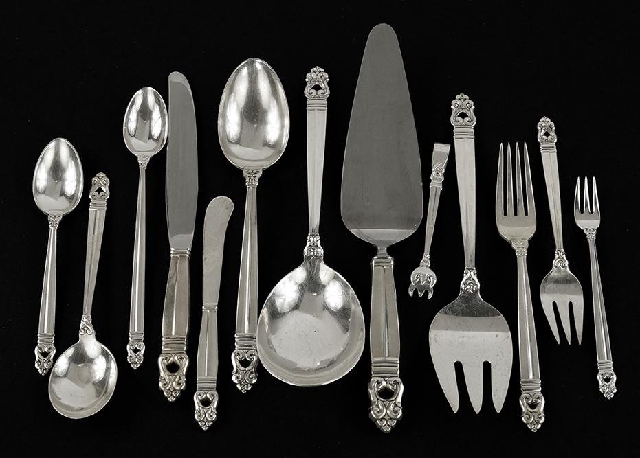 An International Sterling Silver Flatware Service.