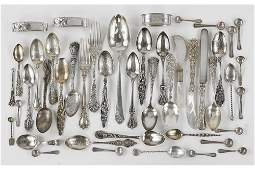 A Collection of Sterling Silver Utensils.