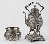 A Tiffany & Company Sterling Silver Kettle On Stand and