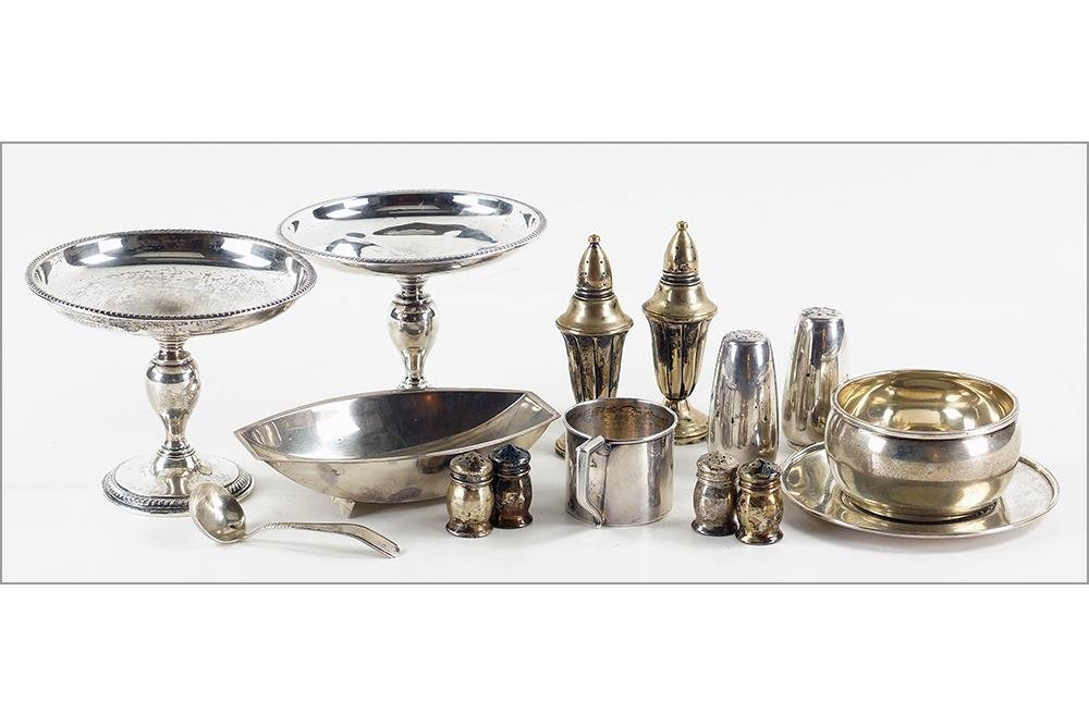 A Collection of Sterling Silver Table Articles.