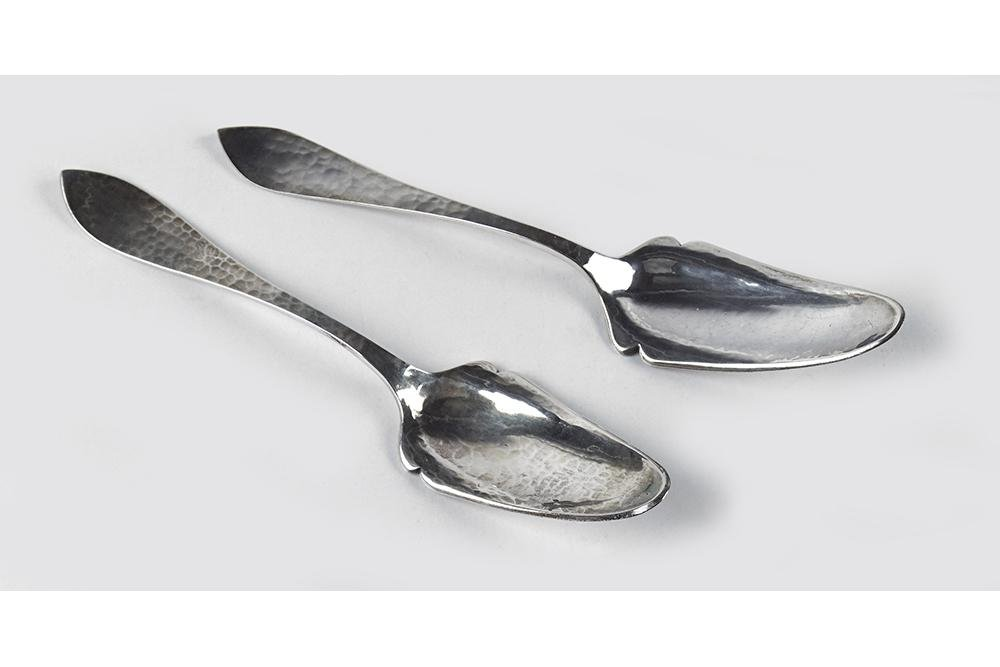 A Near Pair of Kalo Sterling Silver Serving Pieces.