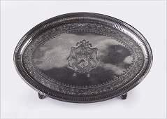 An English George III Silver Salver.