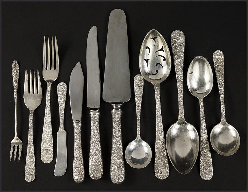 An S. Kirk & Son Sterling Silver Partial Flatware