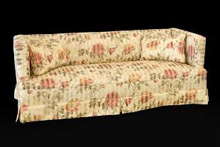 A Silk Upholstered Sofa.