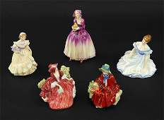 A Collection of Royal Doulton Figures.