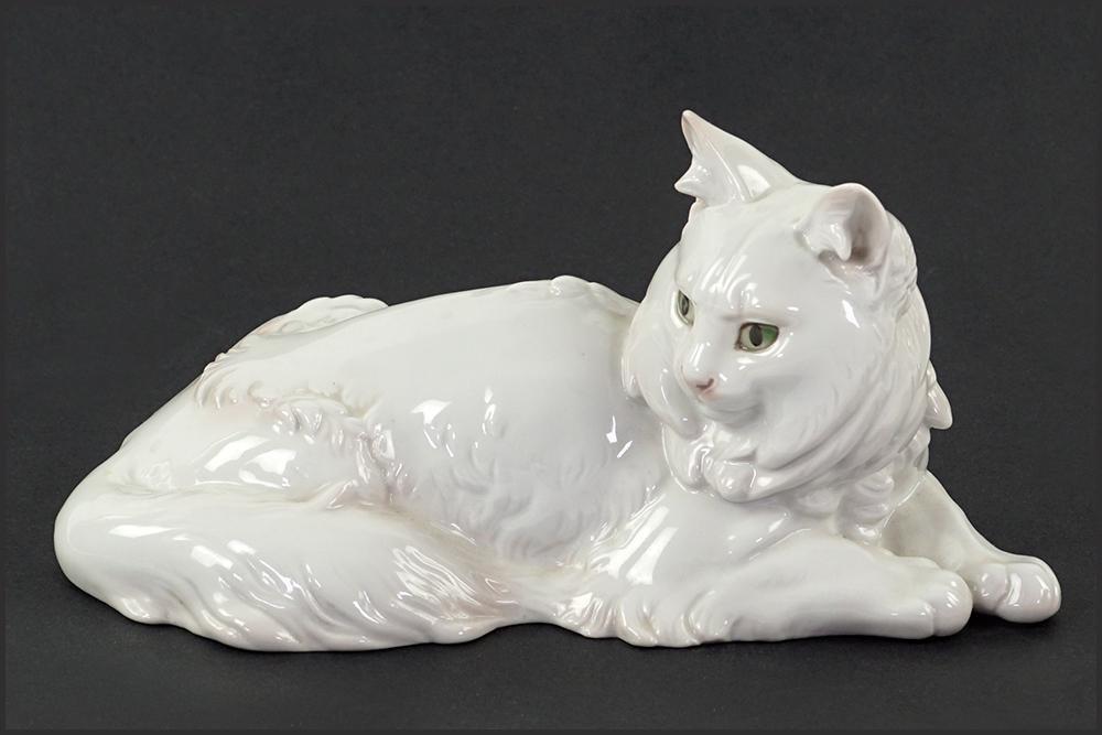 A Rosenthal T. Karner Porcelain Cat Figure.