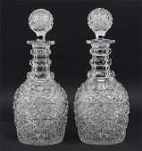 A Pair of Dorflinger American Brilliant Cut Glass
